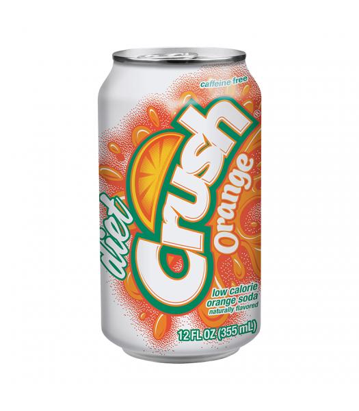 Crush Diet Orange Soda 12oz (355ml) Soda and Drinks Crush