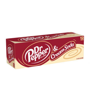 Dr Pepper & Cream Soda 12-Pack - 12 x 12fl.oz (355ml) Soda and Drinks Dr Pepper