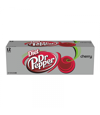 Diet Dr Pepper Cherry 12-Pack (12 x 12fl.oz (355ml)) Soda and Drinks Dr Pepper