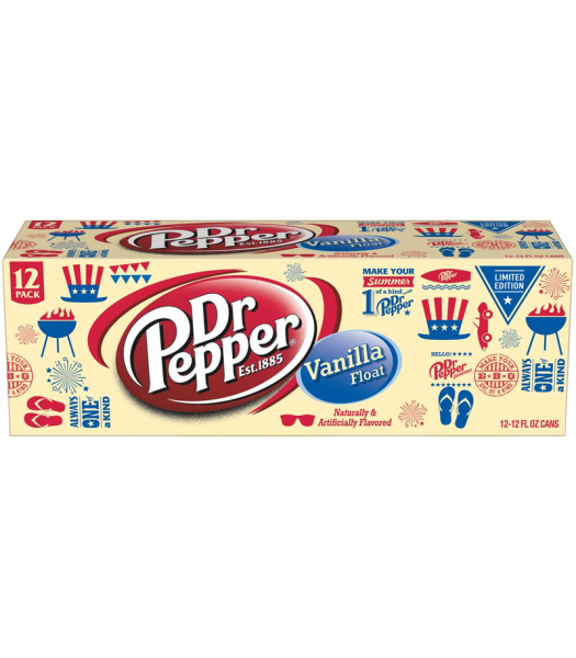 Dr Pepper Vanilla Float - 12fl.oz (355ml) 12-Pack [LIMITED EDITION] Soda and Drinks Dr Pepper