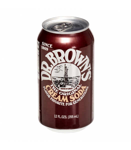 Dr. Brown's Natural Flavour Cream Soda - 12fl.oz (355ml) Soda and Drinks