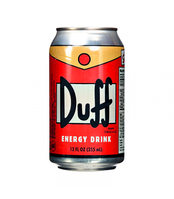 Duff Can Energy Drink - The Simpsons - 12fl.oz (355ml) Energy & Sports Drinks