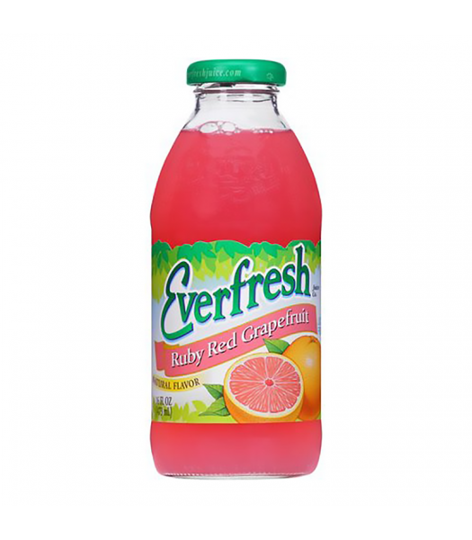 Everfresh Ruby Red Grapefruit Juice - 16fl.oz (473ml) Soda and Drinks