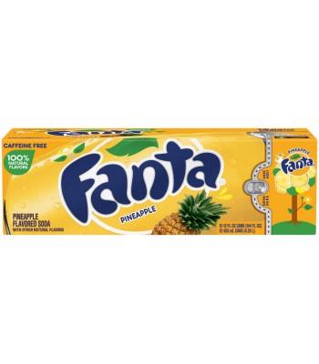 Fanta Pineapple 12 pack cans 355ml Regular Soda Fanta