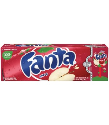 Fanta Apple 12fl.oz (355ml) 12-Pack Cans Soda and Drinks Fanta
