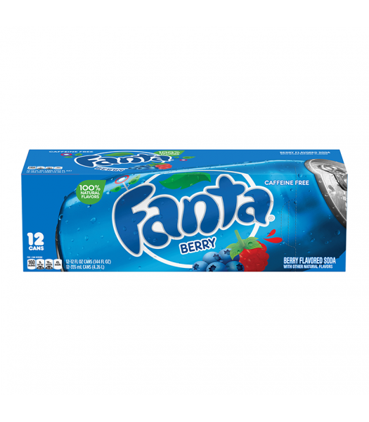 Fanta Berry 12 pack cans 355ml Soda and Drinks Fanta
