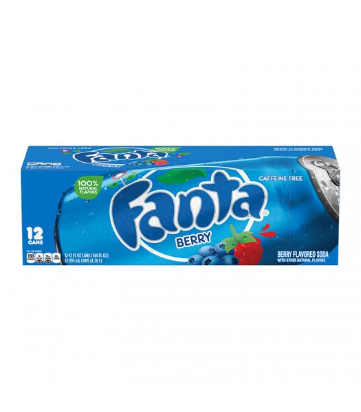 Fanta Berry 12 pack cans 355ml Regular Soda Fanta