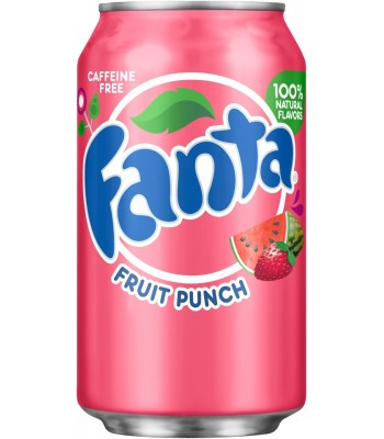 Fanta Fruit Punch 12fl.oz (355ml) Can Soda and Drinks Fanta