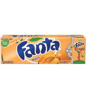 Fanta Peach 12fl.oz (355ml) 12-Pack Cans Soda and Drinks Fanta