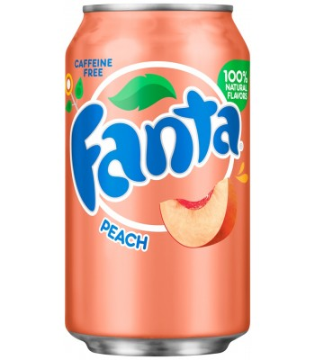 Fanta Peach 12fl.oz (355ml) Can Soda and Drinks Fanta