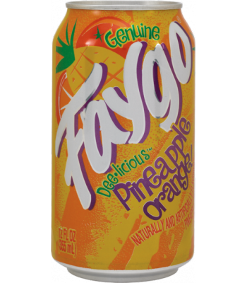 Faygo Pineapple Orange 12oz (355ml) Can Soda and Drinks Faygo