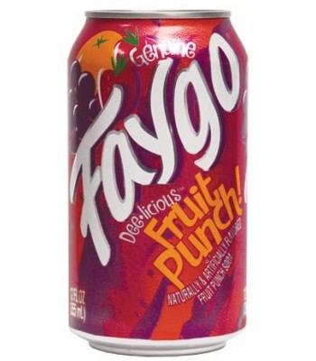 Faygo Fruit Punch 12oz (355ml) Can Soda and Drinks Faygo