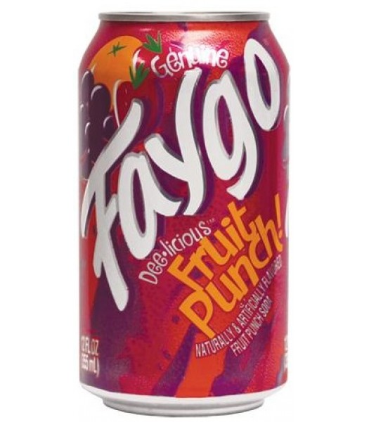 Faygo Fruit Punch 12oz (355ml) Can Soda and Drinks