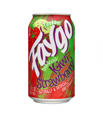 Faygo Kiwi Strawberry - 12fl.oz (355ml) Soda and Drinks Faygo