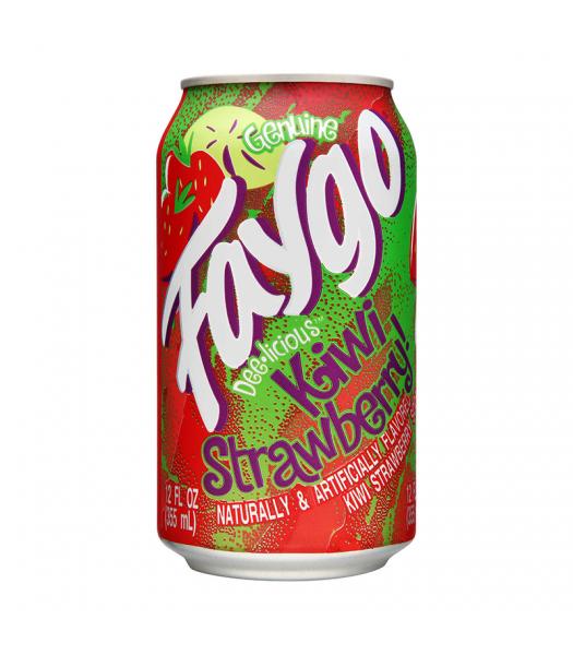 Faygo Kiwi Strawberry - 12fl.oz (355ml) Soda and Drinks Faygo