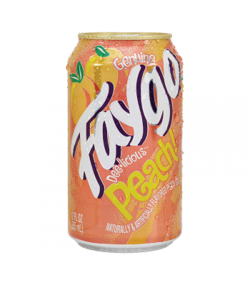 Faygo Peach - 12fl.oz (355ml) Soda and Drinks Faygo