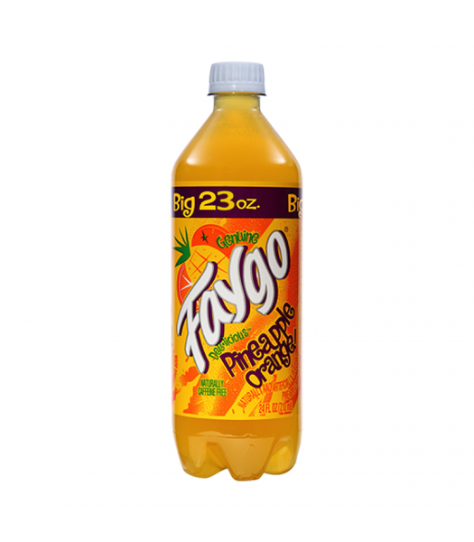 Faygo Pineapple Orange - 23fl.oz (680ml) Soda and Drinks Faygo