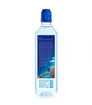 FIJI Natural Artesian Sports Cap Bottled Water - 23.7fl.oz (700ml) Soda and Drinks