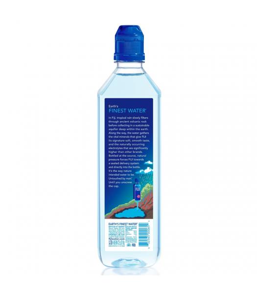 FIJI Natural Artesian Sports Cap Bottled Water - 23.7fl.oz (700ml) Soda and Drinks