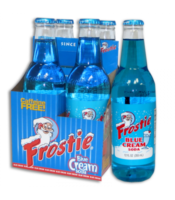 Frostie Blue Cream Soda 12fl.oz (355ml) - 4 Pack Regular Soda Frostie