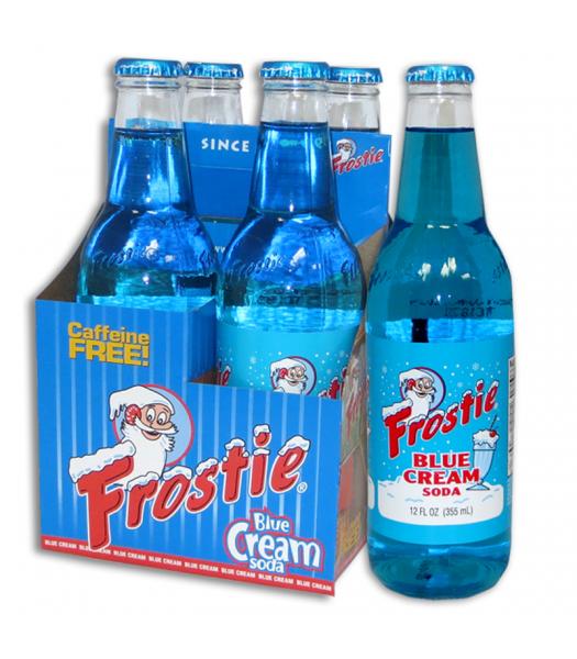 Frostie Blue Cream Soda 12fl.oz (355ml) - 4 Pack Regular Soda Frostie
