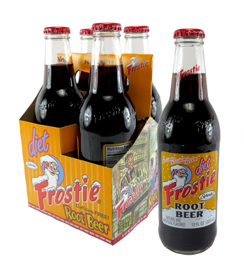Frostie Diet Root Beer 12fl.oz (355ml) - 4 Pack Soda and Drinks Frostie