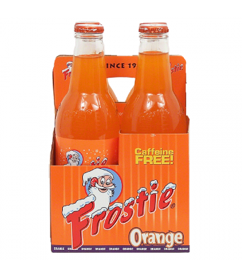 Frostie Orange Soda 12fl.oz (355ml) - 4 Pack Soda and Drinks Frostie