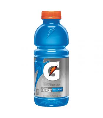 Gatorade Fierce Blue Cherry 20oz (591ml) Energy & Sports Drinks Gatorade