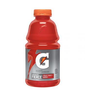 Gatorade Fierce Fruit Punch + Berry 32oz (946ml) Bottle Energy & Sports Drinks Gatorade