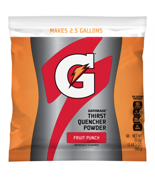 Gatorade - Fruit Punch Instant Powder Mix - 21oz (595g) Soda and Drinks Gatorade