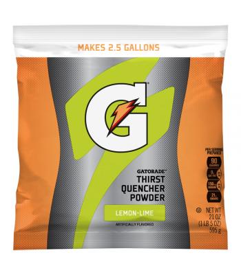 Gatorade - Lemon-Lime Instant Powder Mix - 21oz (595g) Soda and Drinks Gatorade