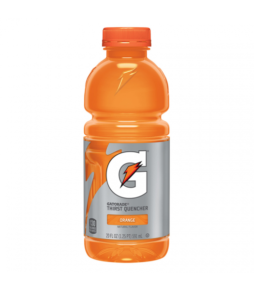 Gatorade Orange 20oz (591ml) Energy & Sports Drinks Gatorade