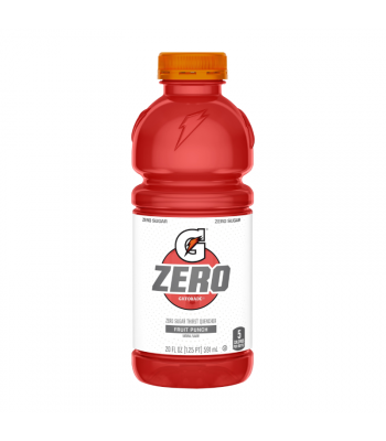 Gatorade ZERO Fruit Punch - 20fl.oz (591ml) Soda and Drinks Gatorade