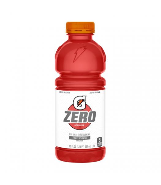 Gatorade ZERO Fruit Punch - 20fl.oz (591ml) Soda and Drinks Gatorade