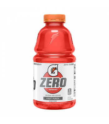 Gatorade Zero Sugar Fruit Punch - 32fl.oz (946ml) Soda and Drinks Gatorade