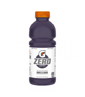 Gatorade ZERO Grape - 20fl.oz (591ml) Soda and Drinks Gatorade