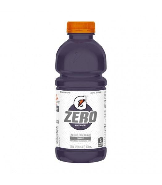 Gatorade Zero Grape - 20fl.oz (591ml) Soda and Drinks Gatorade