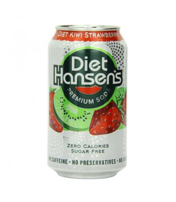 Hansens Diet Kiwi Strawberry Soda 12oz (355ml) can Diet Soda Hansen's