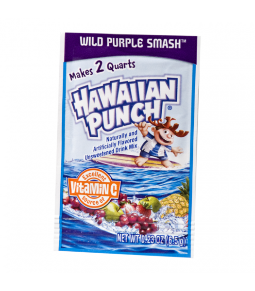 Hawaiian Punch - Wild Purple Smash 2QT Drink Mix - 0.23oz (6.5g) Soda and Drinks Hawaiian Punch