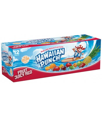 Hawaiian Punch Fruit Juicy Red 12-Pack - 12 x (12fl.oz (355ml) Cans) Fruit Juice & Drinks Hawaiian Punch