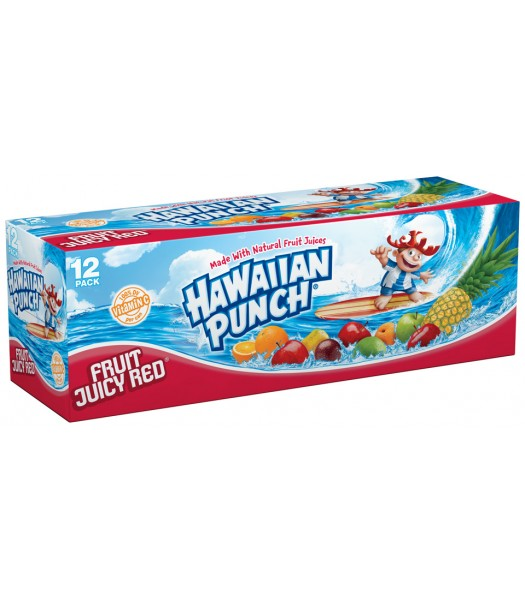 Hawaiian Punch 12 pack cans 355ml Fruit Juice & Drinks Hawaiian Punch