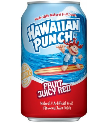 Hawaiian Punch Fruit Juicy Red 12fl.oz (355ml) Soda and Drinks Hawaiian Punch