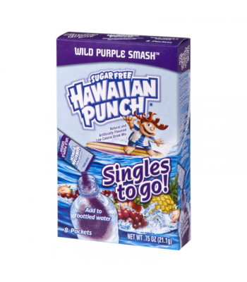 Hawaiian Punch - Singles to Go! Wild Purple Smash - 0.75oz (21.1g) Soda and Drinks Hawaiian Punch