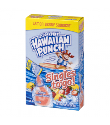 Hawaiian Punch - Singles to Go! Lemon Berry Squeeze - 0.95oz (26.9g) Soda and Drinks Hawaiian Punch