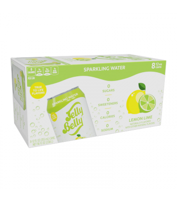 Jelly Belly Lemon Lime Sparkling Water - 8-Pack (8 x 12fl.oz (355ml)) Soda and Drinks Jelly Belly