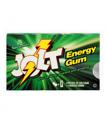 Jolt Energy Gum Spearmint - 12 pieces Sweets and Candy Jolt Energy