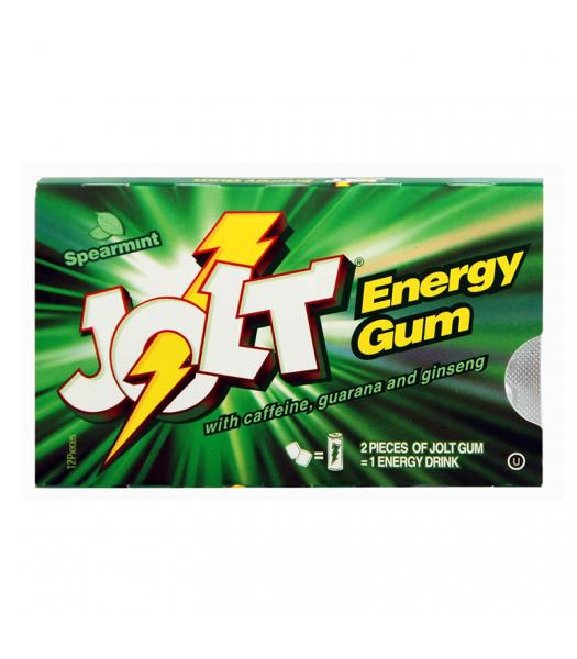 Jolt Energy Gum Spearmint - 12 pieces Sweets and Candy Jolt Energy