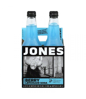 Jones Soda - Berry Lemonade - 4 Pack Soda and Drinks Jones Soda