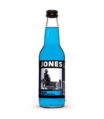 Jones Soda - Blue Bubblegum - 12fl.oz (355ml) Soda and Drinks Jones Soda