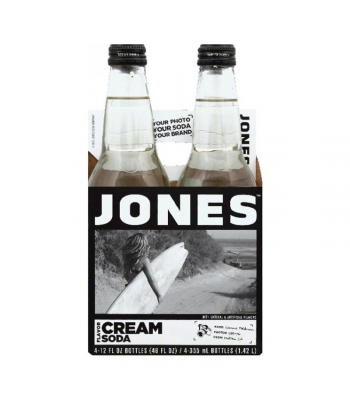 Jones Soda - Cream Soda - 4 Pack Soda and Drinks Jones Soda